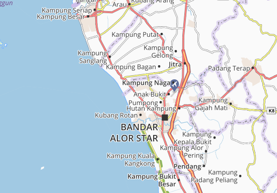 Mapas-Planos Kampung Kubang Siam