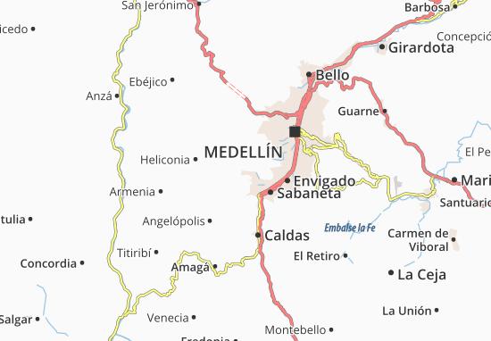 Mapa Barrio Guayabal  plano Barrio Guayabal  ViaMichelin