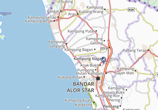 Kampung Kubang Buntal Map