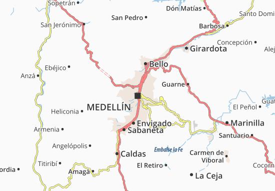 Medellín Map