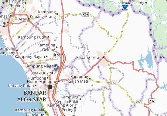 Kaart Plattegrond Kampung Paya