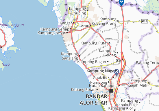 Kampung Sanglang Map