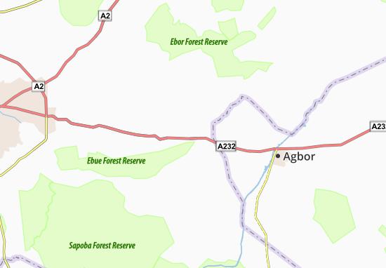 Carte-Plan Abudu