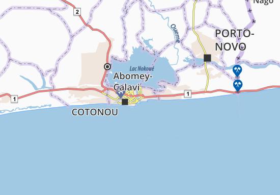 Mappe-Piantine Abokicodji-Centre