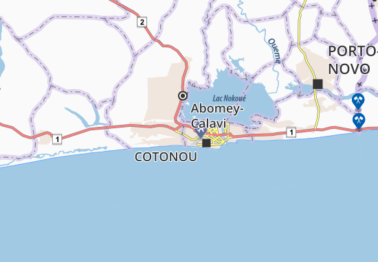 Mapa Plano Ahogbohouè