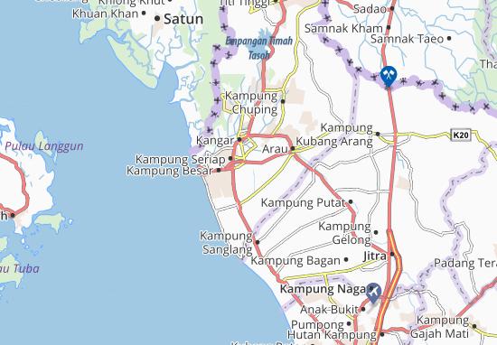 Utan Aji Map