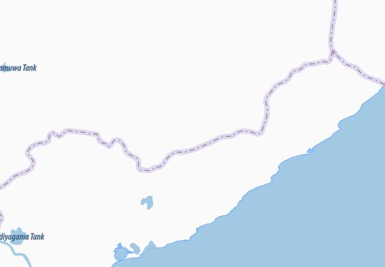 Kaart Plattegrond Kataragama