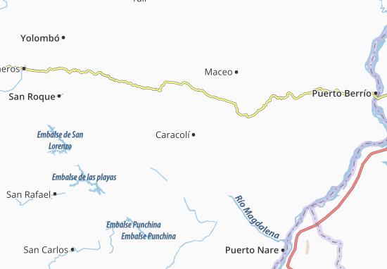 Kaart Plattegrond Caracolí