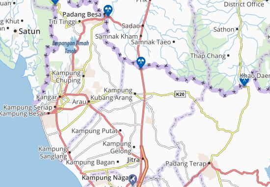 Kampung Kubang Arang Map