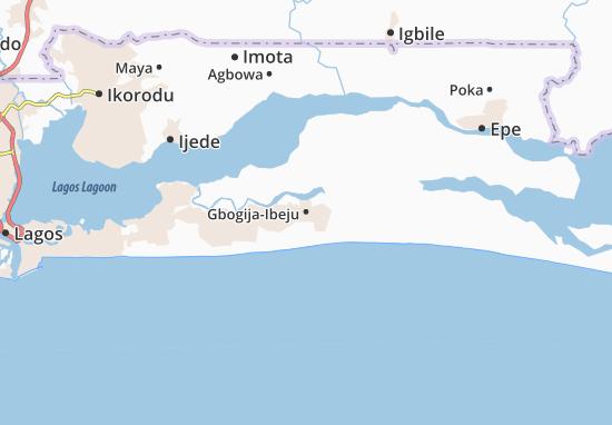 Carte-Plan Gbogija-Ibeju