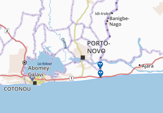 Mapa Plano Porto-Novo