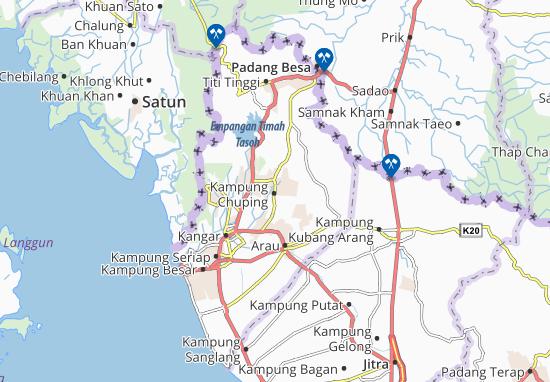 Kaart Plattegrond Kampung Chuping