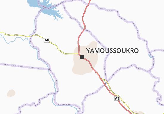 Carte-Plan Yamoussoukro