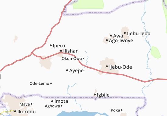 Carte-Plan Okun-Owa