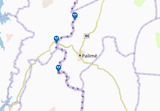 Karte Stadtplan Palimé
