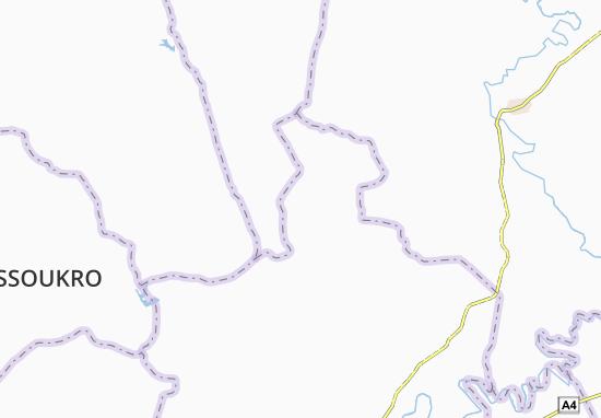 Carte-Plan Ahoumar Pakoukro