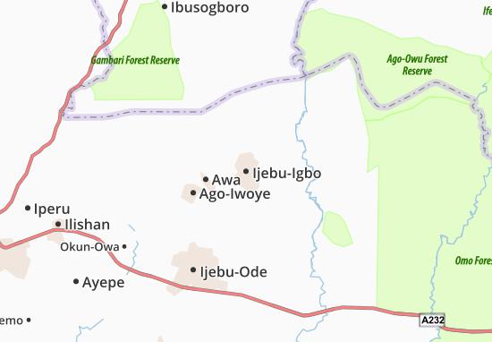 Mapa Plano Ijebu-Igbo