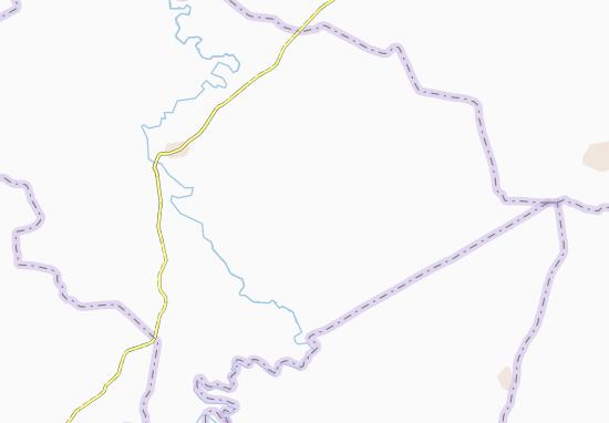 Carte-Plan Ahoutoukro