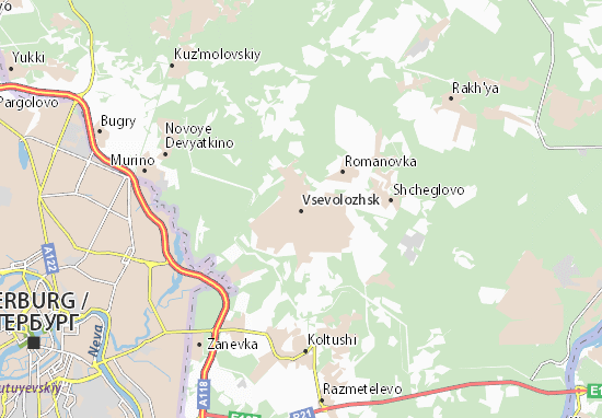 Mapa Plano Vsevolozhsk
