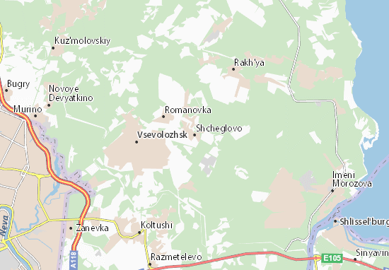 Mapas-Planos Shcheglovo