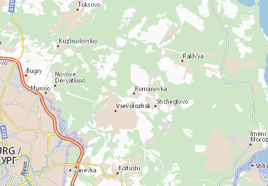 Mapas-Planos Romanovka