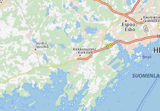 Mapa Plano Kirkkonummi