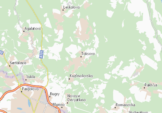 Mapas-Planos Toksovo