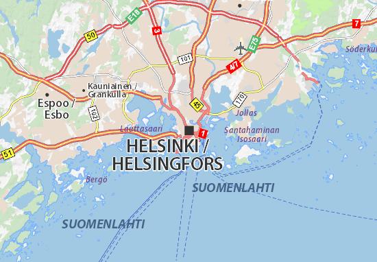 Karte Stadtplan Helsinki