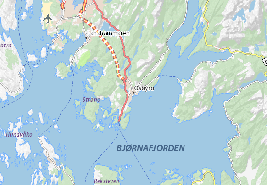 Carte-Plan Osøyro
