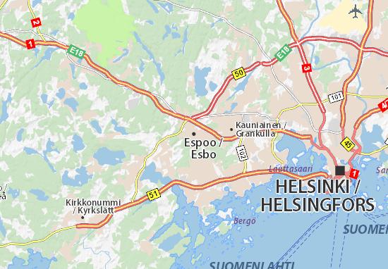 Kaart Plattegrond Espoo