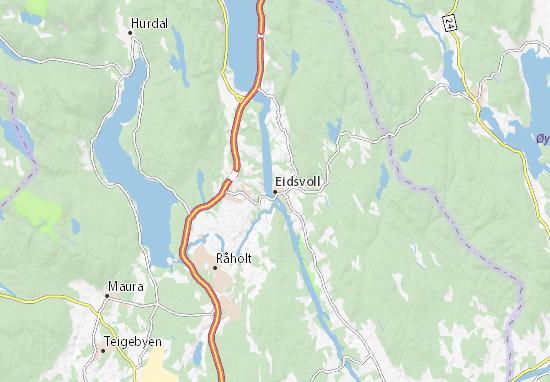 Eidsvoll Map