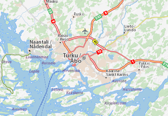 Turku Map: Detailed maps for the city of Turku - ViaMichelin