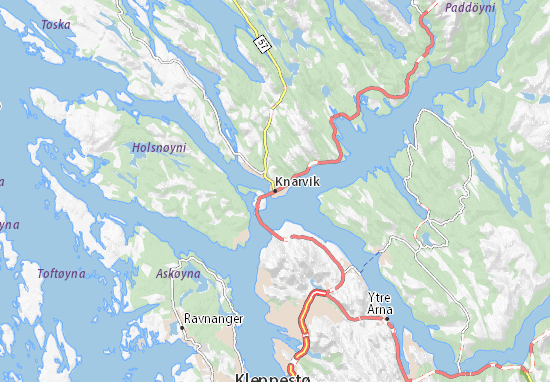 Kaart Plattegrond Knarvik
