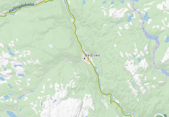 Nesbyen Map