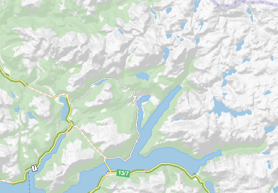 Map Of Ulvik Michelin Ulvik Map ViaMichelin - Ulvik norway map