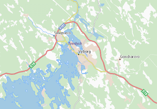 Mapa Plano Vyborg
