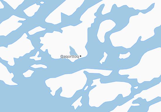 Karte Stadtplan Qaqorttoq