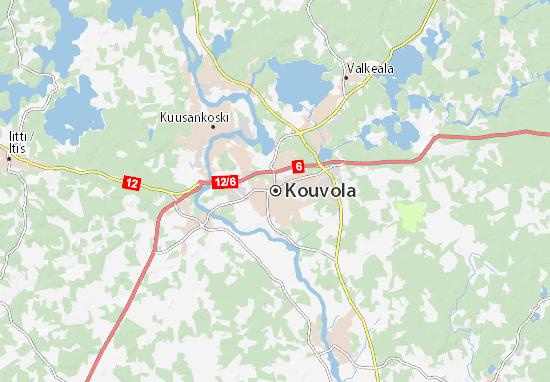 Kaart Plattegrond Kouvola
