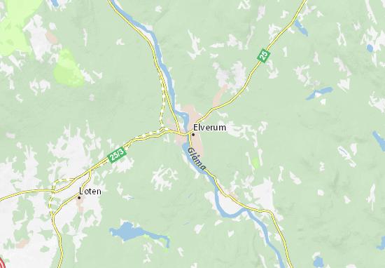 Mappe-Piantine Elverum