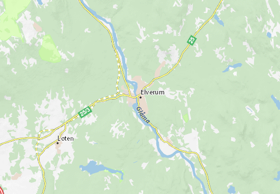 Kaart Plattegrond Elverum