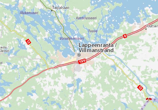 Mapa Lappeenranta
