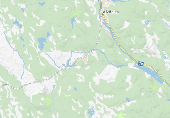Map Of Evertsberg Michelin Evertsberg Map ViaMichelin - Sweden map mora