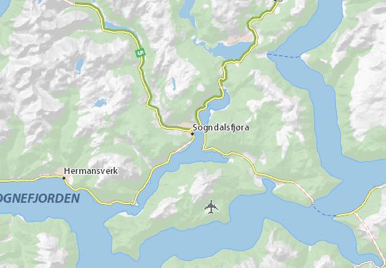Mapas-Planos Sogndalsfjøra