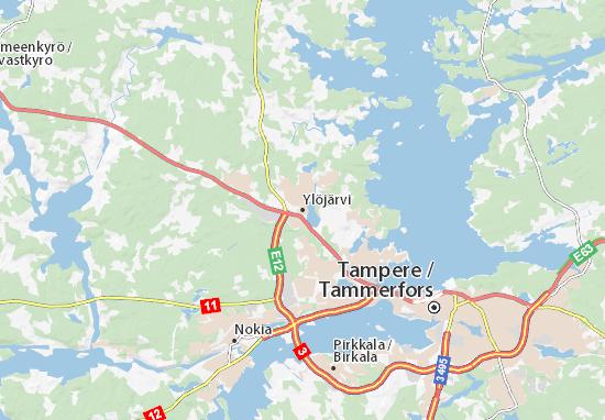 Mapa Plano Ylöjärvi