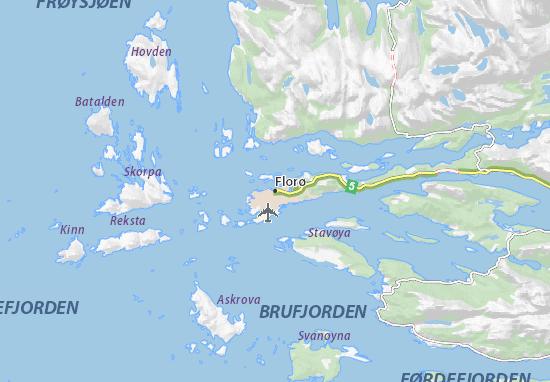 Kaart Plattegrond Florø
