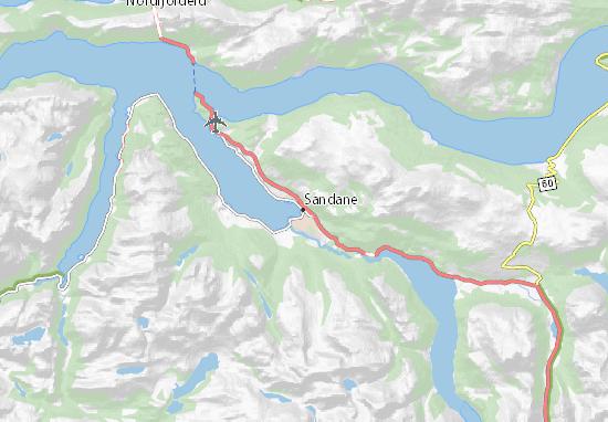 Mapa Plano Sandane