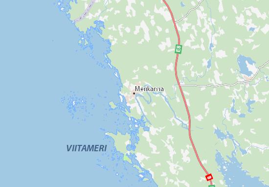 Mapa Plano Merikarvia