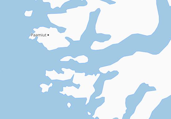 Karte Stadtplan Kangilineq