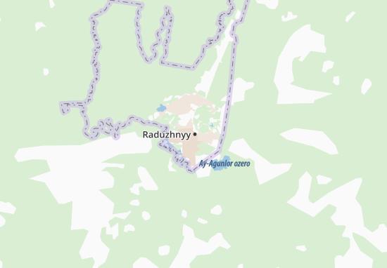 Carte-Plan Raduzhnyy