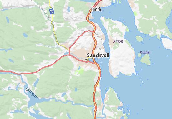 Sundsvall Map